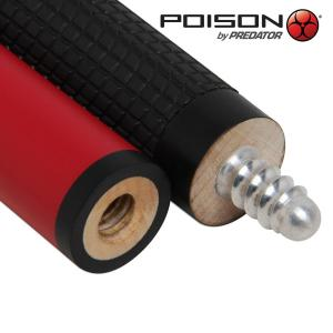 Кий Poison VX⁴ Jump Red and Black GTX™ Grip 3PC Пул 7,5oz