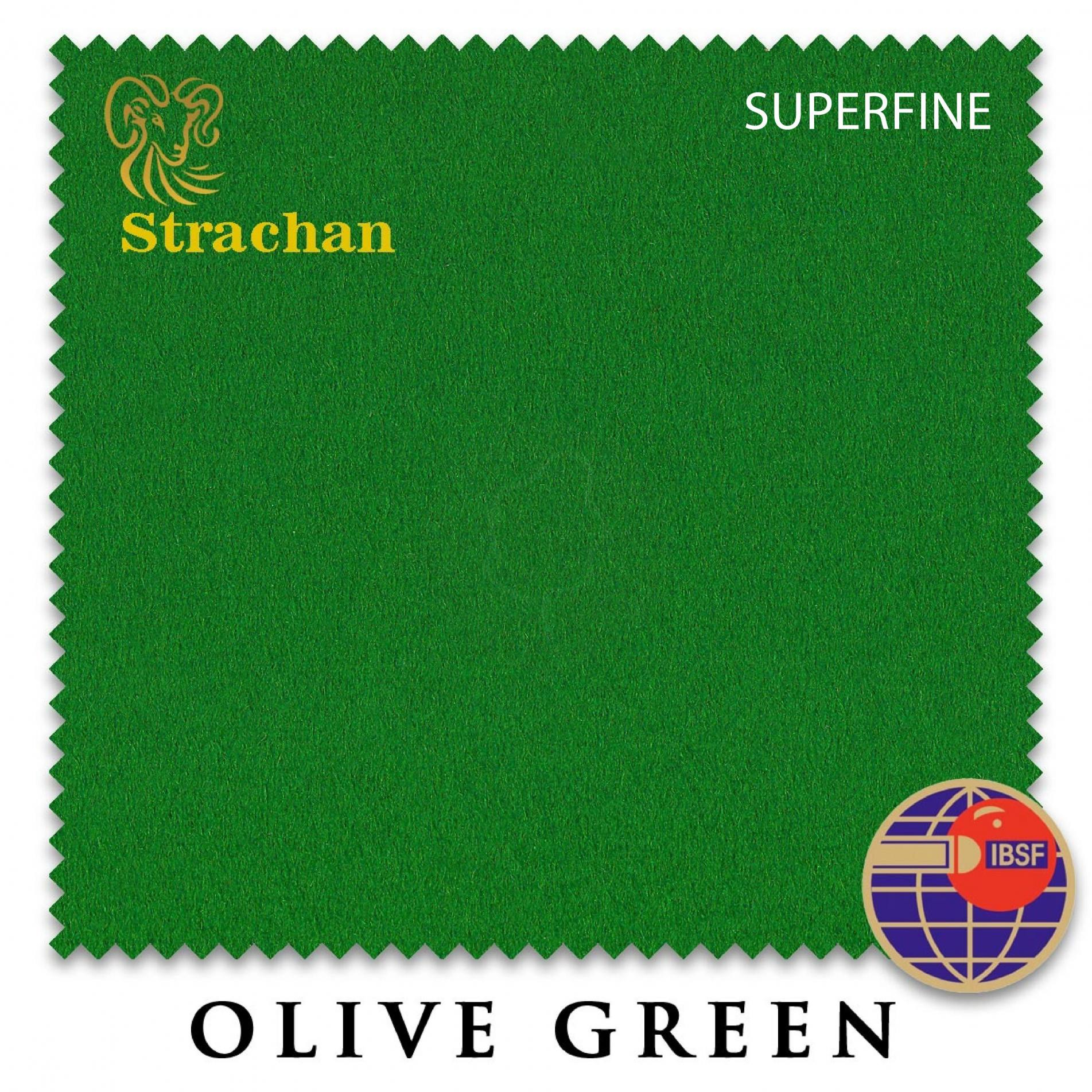 Сукно Strachan Superfine Anti-kick Snooker 193см Olive Green